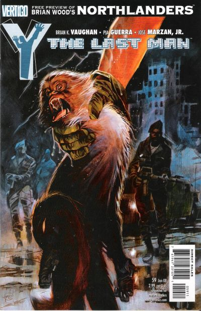 Cover for Y: The Last Man (DC, 2002 series) #59
