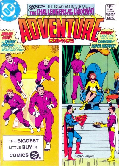 Cover for Adventure Comics (DC, 1938 series) #493