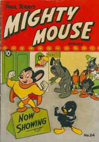 Cover Thumbnail for Paul Terry's Mighty Mouse Comics (St. John, 1951 series) #24 [36-pages]