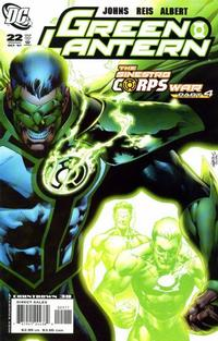 Cover Thumbnail for Green Lantern (DC, 2005 series) #22 [First Printing]