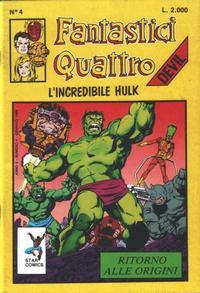 Cover Thumbnail for Fantastici Quattro (Edizioni Star Comics, 1988 series) #4