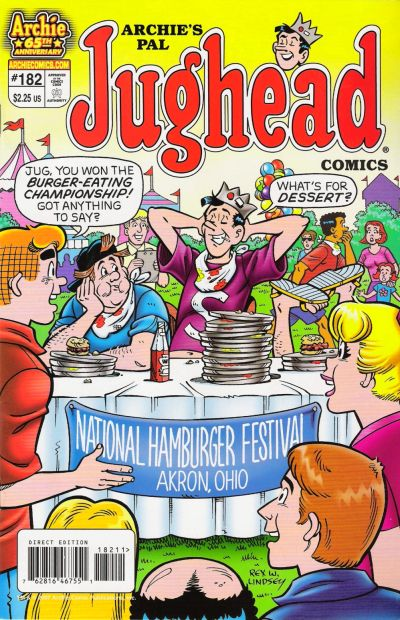 Cover for Archie's Pal Jughead Comics (Archie, 1993 series) #182