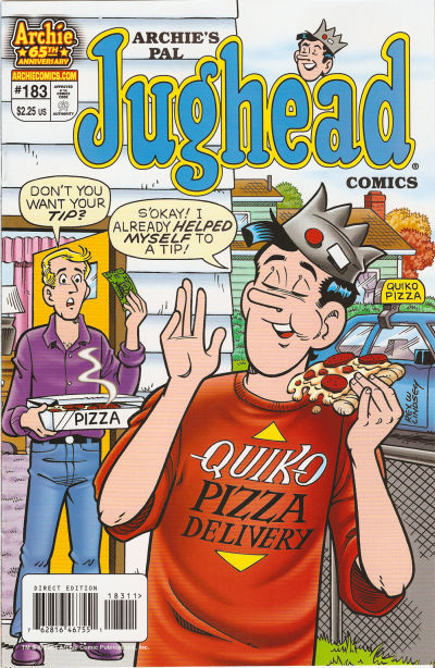 Cover for Archie's Pal Jughead Comics (Archie, 1993 series) #183