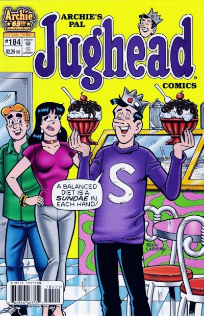 Cover for Archie's Pal Jughead Comics (Archie, 1993 series) #184