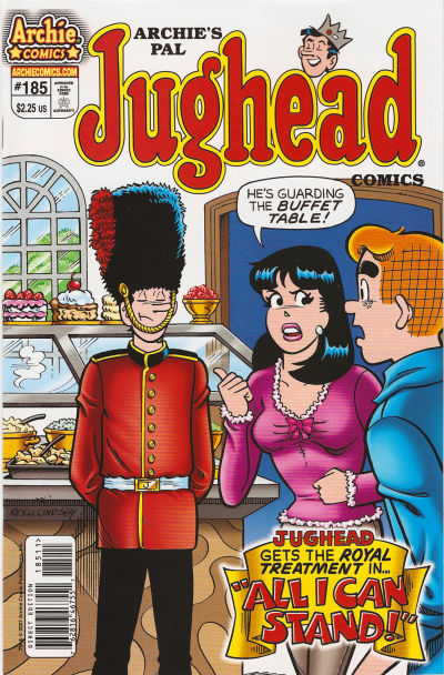 Cover for Archie's Pal Jughead Comics (Archie, 1993 series) #185
