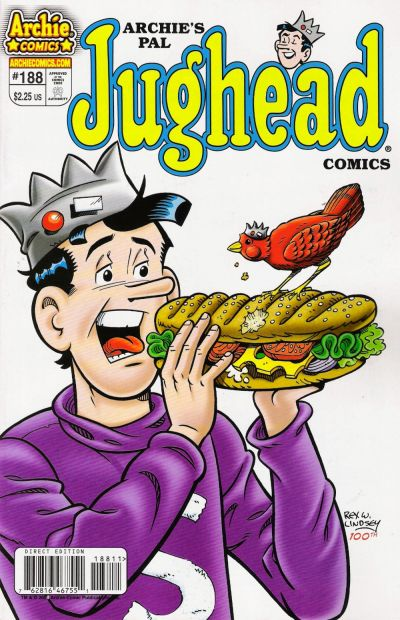 Cover for Archie's Pal Jughead Comics (Archie, 1993 series) #188