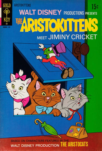 Cover for Walt Disney Productions Presents The Aristokittens Meet Jiminy Cricket (Western, 1971 series) #[1]