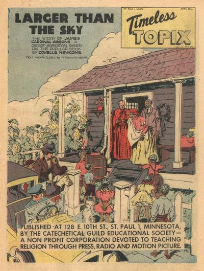 Cover for Timeless Topix (Catechetical Guild Educational Society, 1942 series) #v4#8
