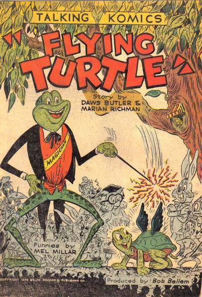Cover for Talking Komics (Belda Record & Publ. Co., 1946 series) #[F - Flying Turtle]