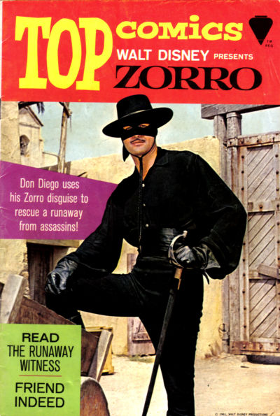 Cover for Top Comics Walt Disney Presents Zorro (Western, 1967 series) #1