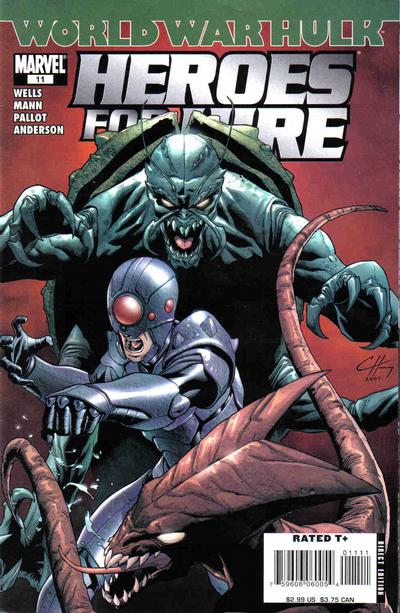 Cover for Heroes for Hire (Marvel, 2006 series) #11