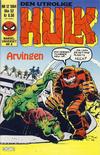 Cover for Hulk (Semic, 1984 series) #12/1984