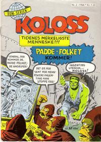 Cover Thumbnail for Koloss (Serieforlaget / Se-Bladene / Stabenfeldt, 1968 series) #2/1968