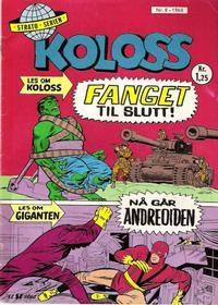 Cover Thumbnail for Koloss (Serieforlaget / Se-Bladene / Stabenfeldt, 1968 series) #8/1968