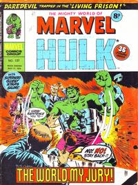 Cover for The Mighty World of Marvel (Marvel UK, 1972 series) #137