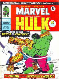 Cover Thumbnail for The Mighty World of Marvel (Marvel UK, 1972 series) #138