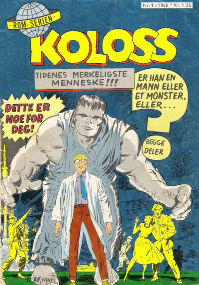 Cover for Koloss (Serieforlaget / Se-Bladene / Stabenfeldt, 1968 series) #1/1968