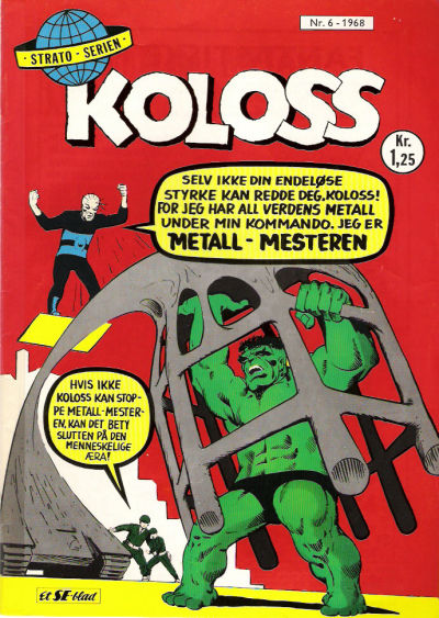 Cover for Koloss (Serieforlaget / Se-Bladene / Stabenfeldt, 1968 series) #6/1968