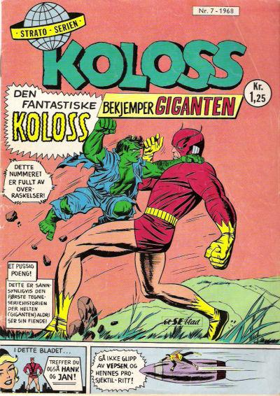 Cover for Koloss (Serieforlaget / Se-Bladene / Stabenfeldt, 1968 series) #7/1968