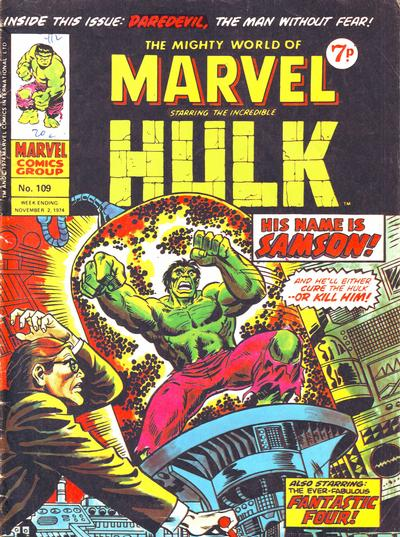Cover for The Mighty World of Marvel (Marvel UK, 1972 series) #109