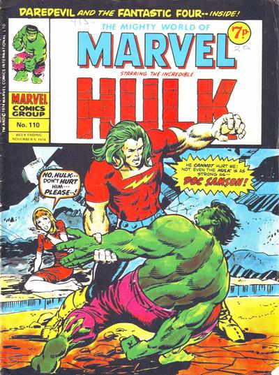 Cover for The Mighty World of Marvel (Marvel UK, 1972 series) #110