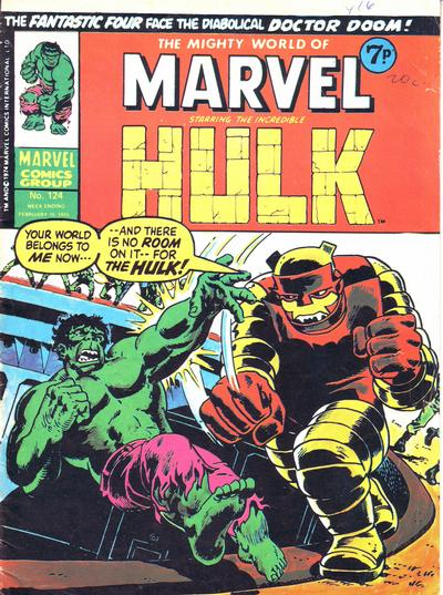 Cover for The Mighty World of Marvel (Marvel UK, 1972 series) #124