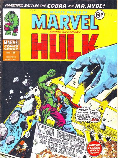 Cover for The Mighty World of Marvel (Marvel UK, 1972 series) #126