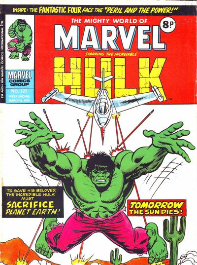Cover for The Mighty World of Marvel (Marvel UK, 1972 series) #127