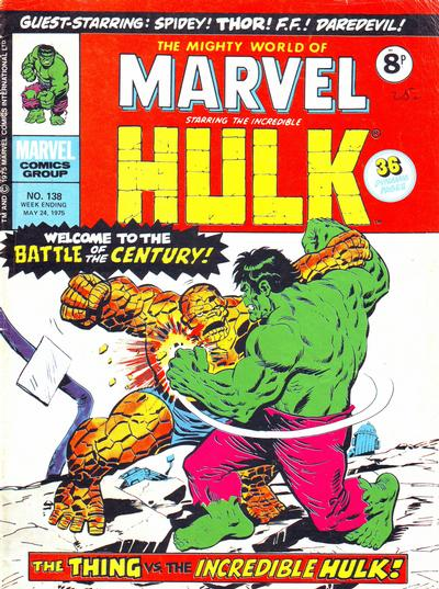 Cover for The Mighty World of Marvel (Marvel UK, 1972 series) #138