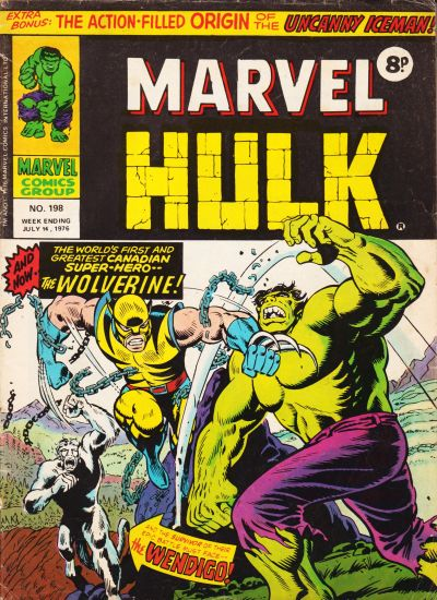 Cover for The Mighty World of Marvel (Marvel UK, 1972 series) #198
