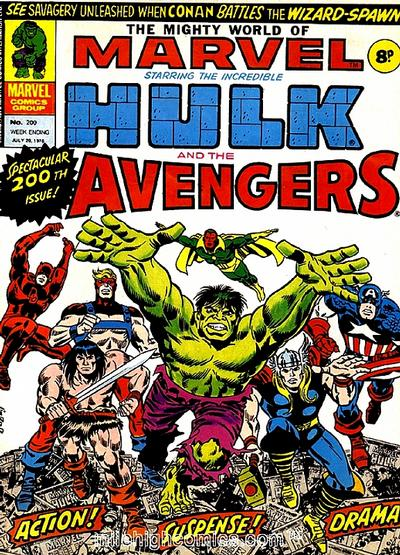 Cover for The Mighty World of Marvel (Marvel UK, 1972 series) #200