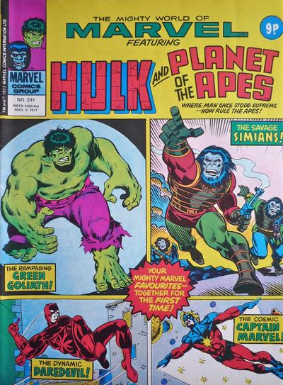Cover for The Mighty World of Marvel (Marvel UK, 1972 series) #231