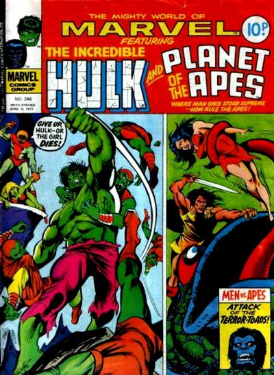 Cover for The Mighty World of Marvel (Marvel UK, 1972 series) #246