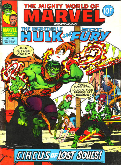 Cover for The Mighty World of Marvel (Marvel UK, 1972 series) #288