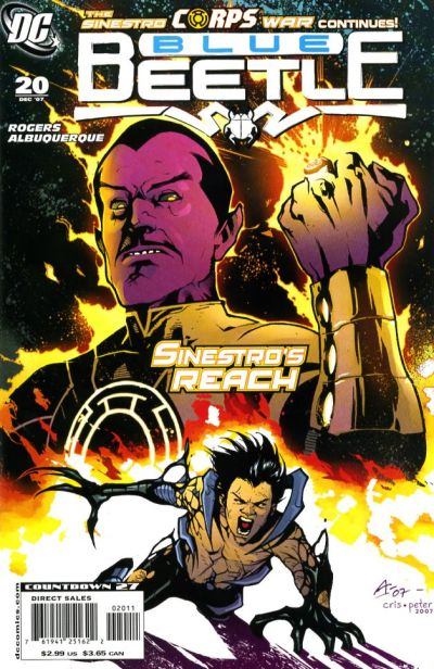 Cover for The Blue Beetle (DC, 2006 series) #20