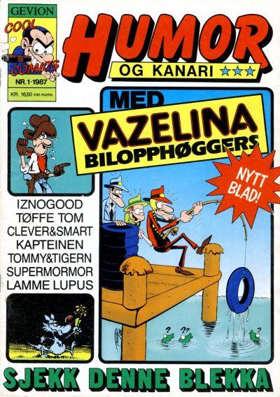 Cover for Humor og kanari (Gevion, 1987 series) #1/1987
