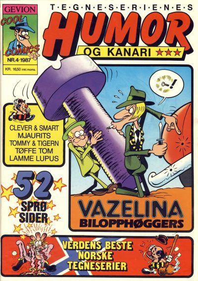 Cover for Humor og kanari (Gevion, 1987 series) #4/1987