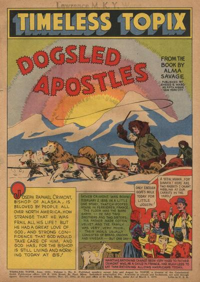 Cover for Timeless Topix (Catechetical Guild Educational Society, 1942 series) #v1#8