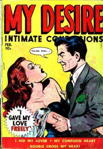 Cover for My Desire Intimate Confessions (Fox, 1949 series) #3