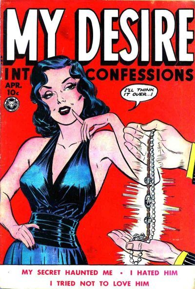 Cover for My Desire Intimate Confessions (Fox, 1949 series) #4