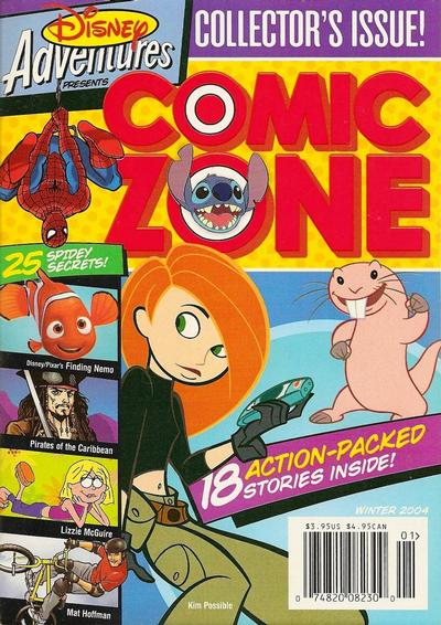 Cover for Disney Adventures Comic Zone (Disney, 2004 series) #Winter 2004 [2]