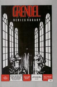 Cover Thumbnail for Grendel: Devil's Vagary (Comico, 1987 series)