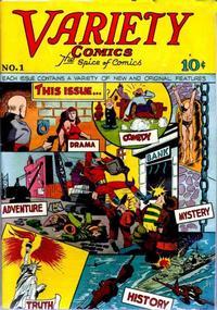 Cover Thumbnail for Variety Comics (Croydon Publishing Co., 1944 series) #1