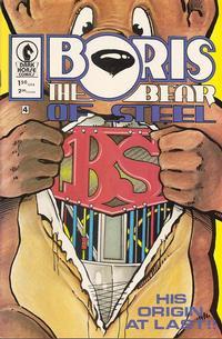 Cover Thumbnail for Boris the Bear (Dark Horse, 1986 series) #4 [Cover B]