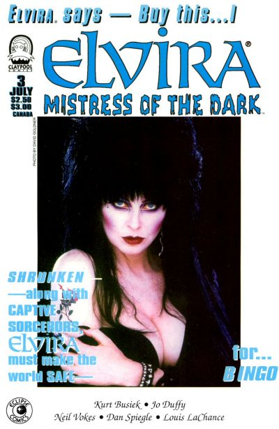 Cover for Elvira, Mistress of the Dark (Claypool Comics, 1993 series) #3
