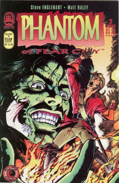 Cover for Phantom of Fear City (Claypool Comics, 1993 series) #2