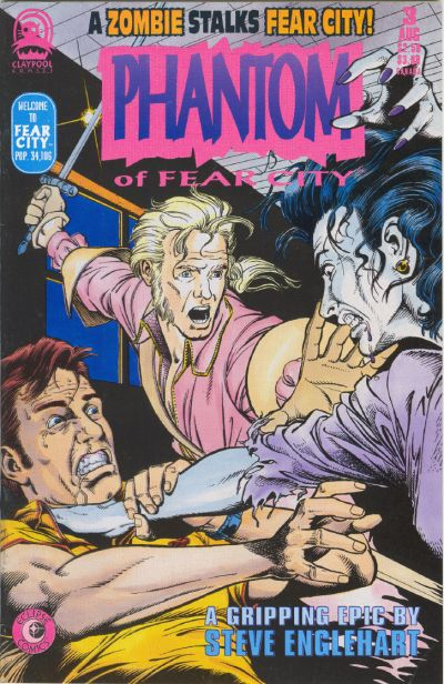 Cover for Phantom of Fear City (Claypool Comics, 1993 series) #3
