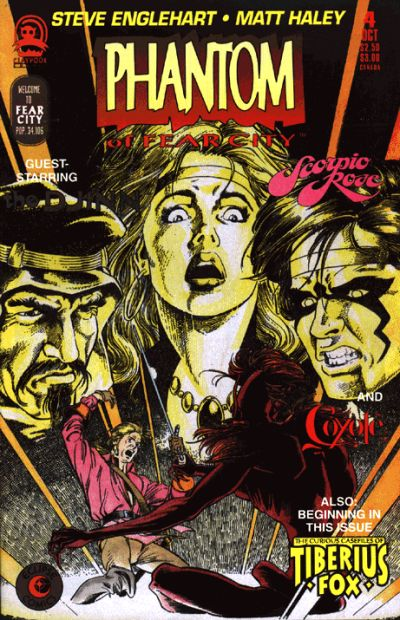 Cover for Phantom of Fear City (Claypool Comics, 1993 series) #4
