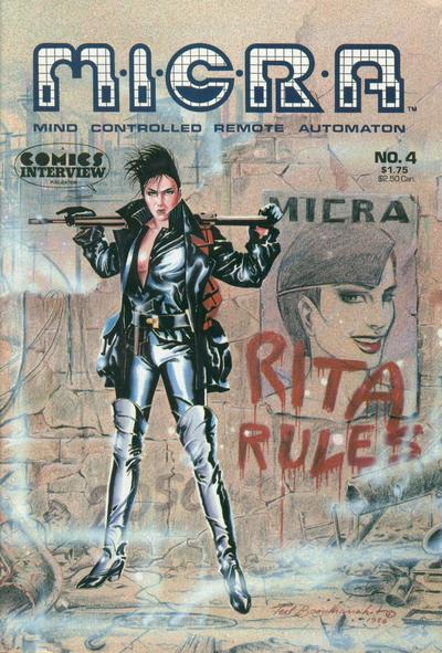Cover for MICRA: Mind Controlled Remote Automaton (Fictioneer Books, Ltd., 1986 series) #4