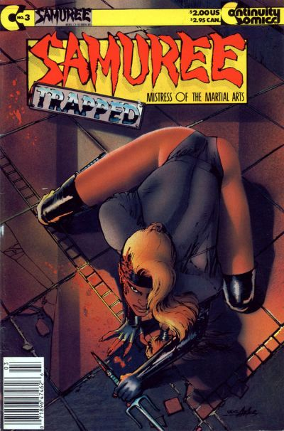 Cover for Samuree (Continuity, 1987 series) #3 [Newsstand Edition]